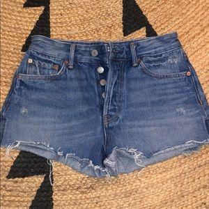 Grlfrnd Cindy high rise denim shorts - Size 24
